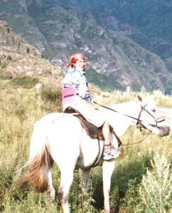 Гульсара на лошади